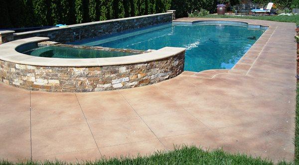 Pool Deck Staining Concrete Pool Decks DelGrosso Design Santa Rosa, CA