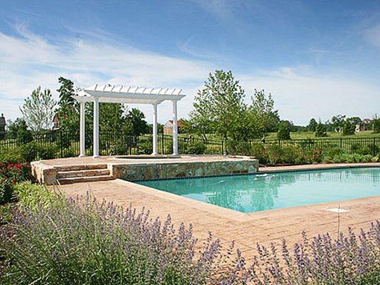 Pool Deck, Stamped, Trees, Jacuzzi Concrete Pool Decks M&F Manassas, VA
