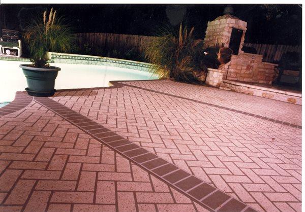 Red Brick, Borders Concrete Pool Decks Sundek of Austin Austin, TX