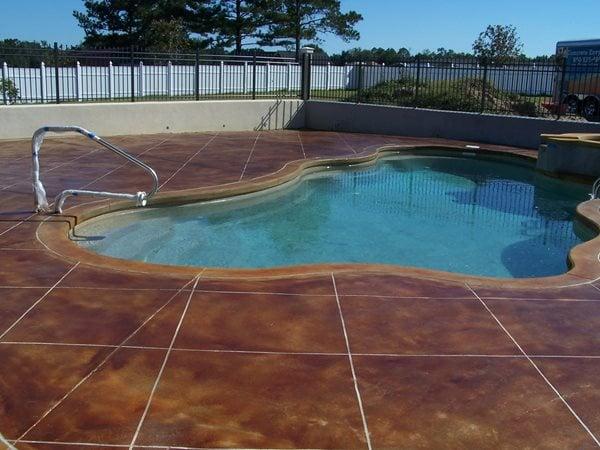 Rich Brown, Large Tiles Concrete Pool Decks Concrete Wonders LLC Pensacola, FL