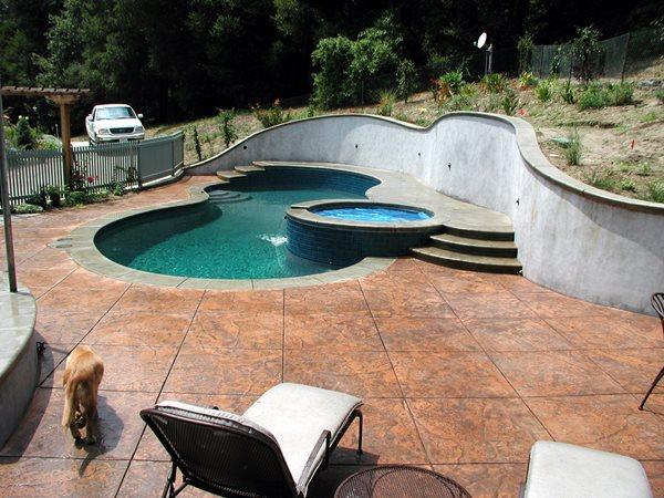 Seamless Texture, Diamond Sawcuts Concrete Pool Decks Tom Ralston Concrete Santa Cruz, CA