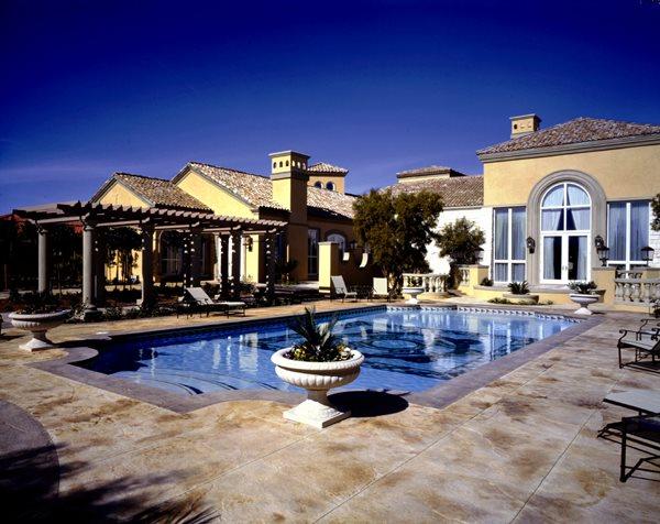 Sleek, Tan Concrete Pool Decks QC Construction Products Madera, CA