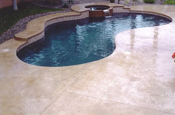 Smooth, Tan Concrete Pool Decks Super-Krete Products Spring Valley, CA