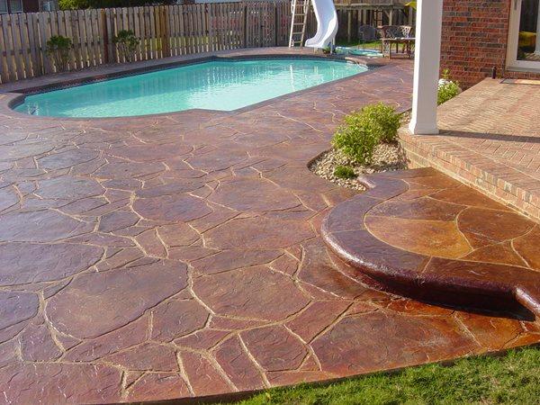 Concrete Pool Decks Solid Rock Concrete Services Gravette, AR