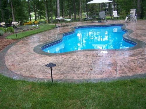Stained Pool Deck Concrete Pool Decks Southland Concrete Inc Newton Grove, NC