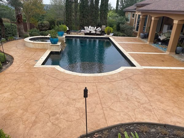 Stamped Concrete Overlay, Pool Deck Overlay Concrete Pool Decks Sundek of San Antonio San Antonio, TX