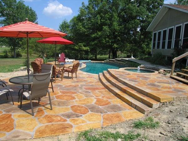 Stamped Concrete Pool Deck Dallas Concrete Pool Decks Sublime Concrete Solutions LLC. Plano, TX