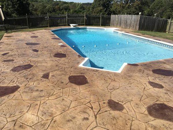 Stamped Concrete, Stamped Concrete Pool Deck, Pool Deck, Concrete, Concrete Pool Deck Concrete Pool Decks Smart Concrete Solutions LLC Lutherville-Timonium, MD