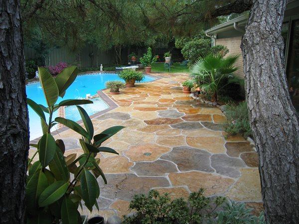 Stamped Pool Deck, Concrete Pool Deck, Colored Pool Deck Concrete Pool Decks Sublime Concrete Solutions LLC. Plano, TX