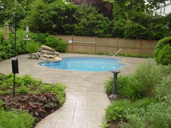 Stamped Stone, Free Form Pool Concrete Pool Decks Topcoat, LLC Fair Lawn, NJ