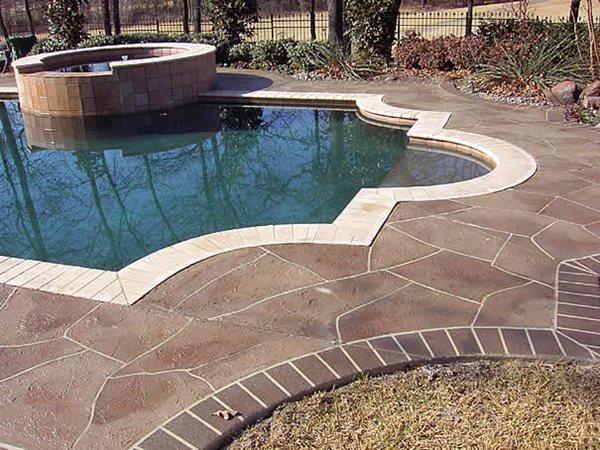 Stone Pool Deck Texas Concrete Pool Decks SolCrete Denton, TX