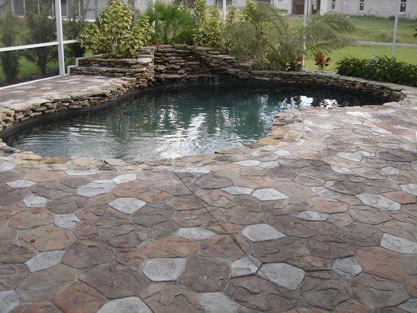 Swimming Pool Concrete Pool Decks Impressions Decorative Concrete, Inc Lutz, FL
