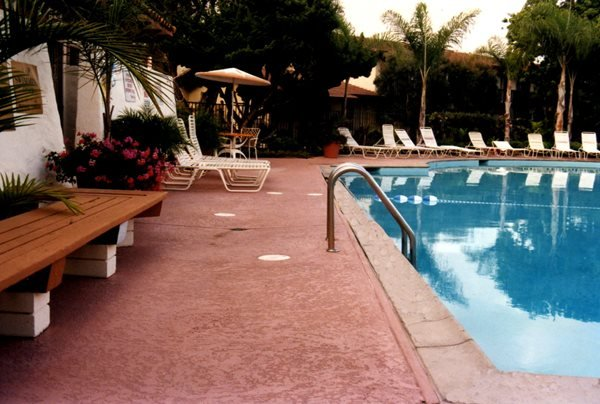 Terra Cotta, Textured Concrete Pool Decks Concrete Solutions Products by Rhino Linings® San Diego, CA