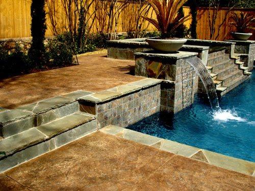 Texas Concrete Pool Deck Concrete Pool Decks Hard Rock Concrete Company Inc Colleyville, TX