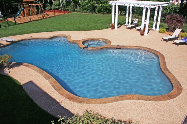 Textured, Coping Concrete Pool Decks New England Hardscapes Inc Acton, MA