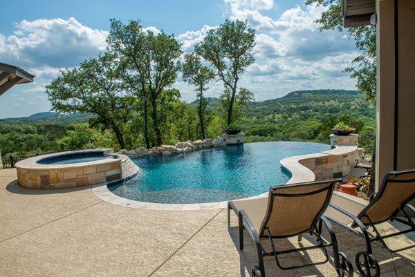 Textured Pool Deck, Concrete Coating Concrete Pool Decks Sundek of Houston Katy, TX