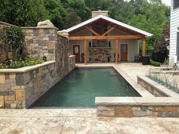Textured Pool Deck, Poured Concrete Coping Concrete Pool Decks CustomCrete Saint Peters, MO