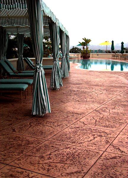 Textured Tiles, Clay Concrete Pool Decks Brickform Rialto, CA