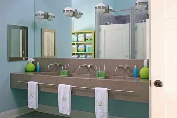 Bathroom, Sink, Towel Bar, Three Faucets Concrete Sinks Hard Topix Jenison, MI