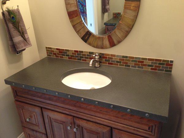 Black Sink, Tile Backsplash Concrete Sinks Hard Topix Jenison, MI
