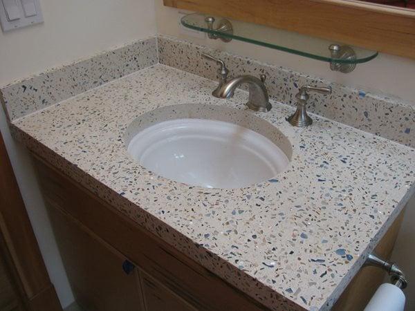 Concrete Bathroom Vanity, Decorative Glass Aggregate Concrete Sinks Alchemy Construction Inc Arcata, CA