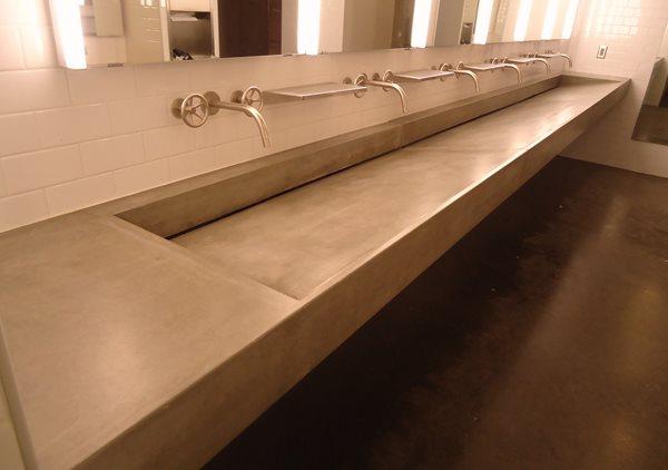Concrete Ramp Sink, Gray Concrete Sink Concrete Sinks Urban Concrete Works Richfield, MN