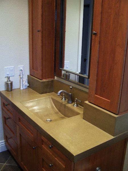 Concrete Sink, Integral Concrete Sink Concrete Sinks Concrete Interiors Martinez, CA