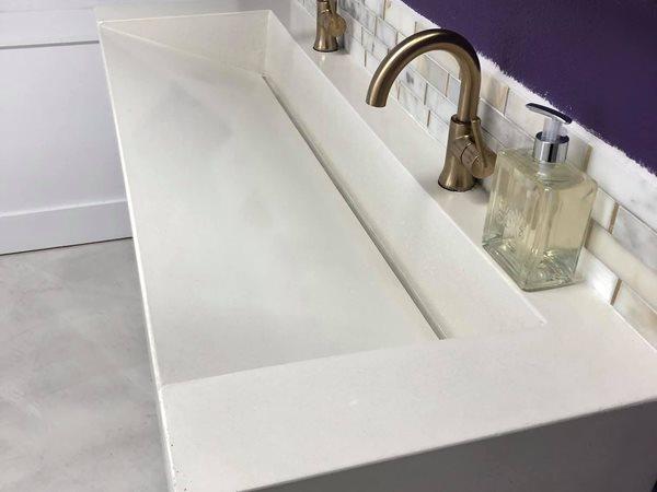 Concrete Sink, Ramp Sink, Slot Drain Concrete Sinks Deco-Crete Studios Gretna, LA