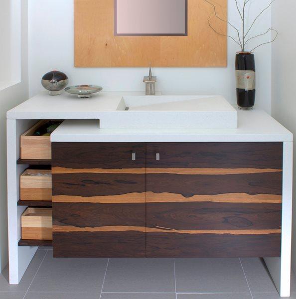 Concrete Waterfall Vanity Concrete Sinks Custom Crete Werks LLC Racine, WI