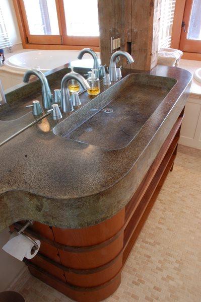Double Bathroom Vanity Sink Concrete Sinks Stone Soup Concrete Easthampton, MA