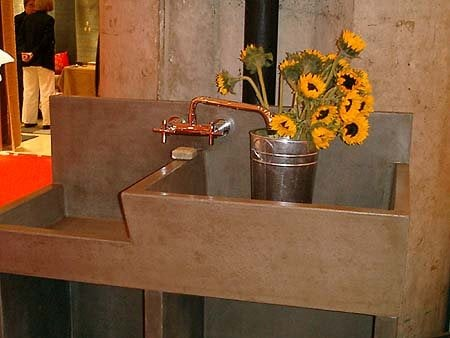 Double, Modern Concrete Sinks Get Real Surfaces Poughkeepsie, NY