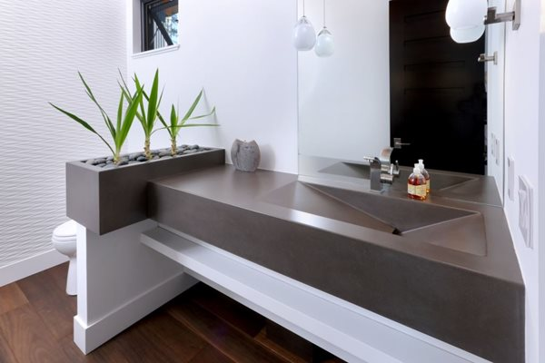 Floating Sink, Charcoal Concrete Concrete Sinks Hard Topix Jenison, MI