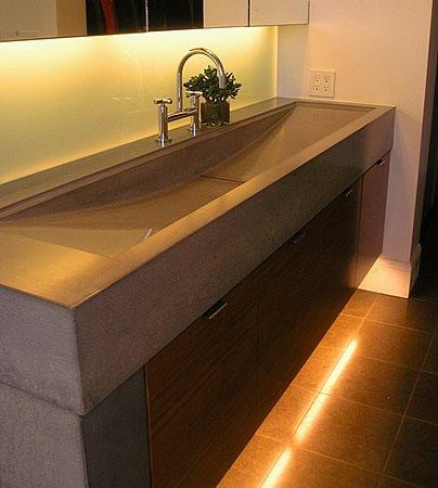 Grey, New Age Concrete Sinks Flowstone Concrete Studio Sacramento, CA