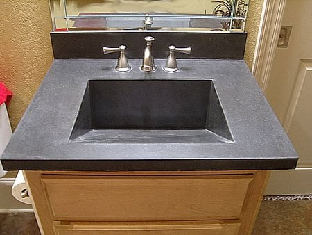 Grey Sink, Rectangular Concrete Sinks EnVision Concrete LLC Sherwood, AR