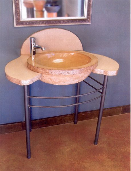 Large, Bowl Concrete Sinks Grotto Design Canmore, AB