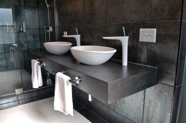 Modern Double Concrete Sink Concrete Sinks Kerr Concrete Evanston, IL