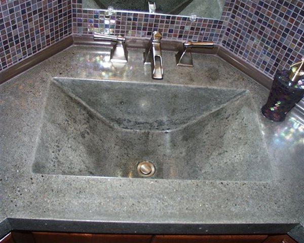 Modern, Polished Concrete Sinks Creative Custom Concrete Concepts LLC Anacortes, WA