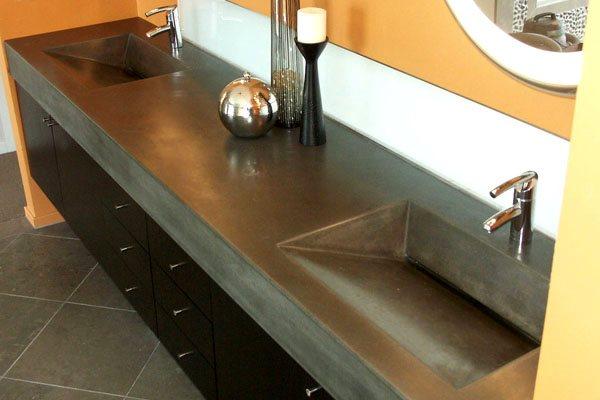 Modern ,slate Concrete Sinks Ace Construction Milpitas, CA