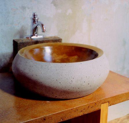 Natural Stone, Bowl Concrete Sinks J. Aaron Cast Stone Scottdale, GA