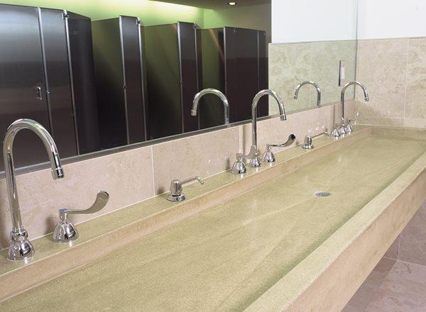 Public Trough Sink Concrete Sinks Art and Maison Inc. Miami, FL