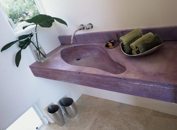 Purple, Free Form Concrete Sinks Art and Maison Inc. Miami, FL