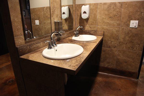 Restaurant Bathroom Sink Counter Concrete Sinks Classic Counters San Diego, CA