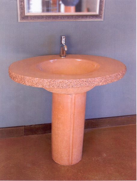 Sand, Pedestal Concrete Sinks Grotto Design Canmore, AB