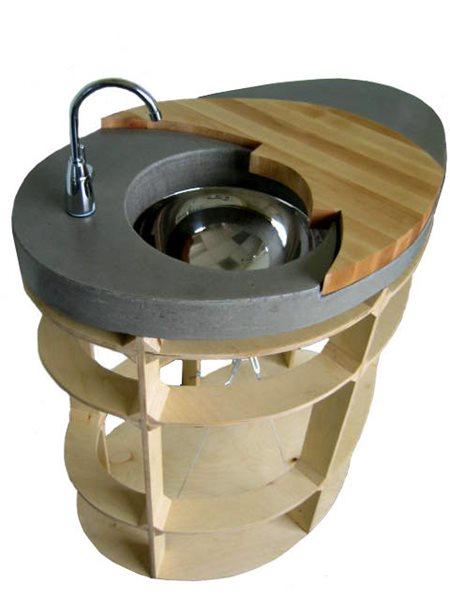 Slate, Kitchen Pedestal Concrete Sinks Gore Design Co llc Tempe, AZ