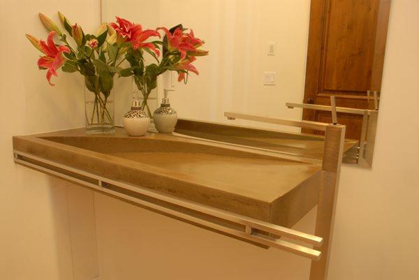 Tan Bathroom Sink Concrete Sinks California Concrete Designs Anaheim, CA