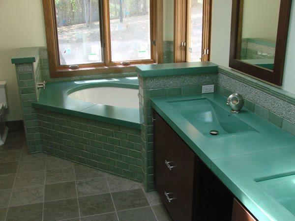 Teal, Bathtub Concrete Sinks Diamond D Company Capitola, CA