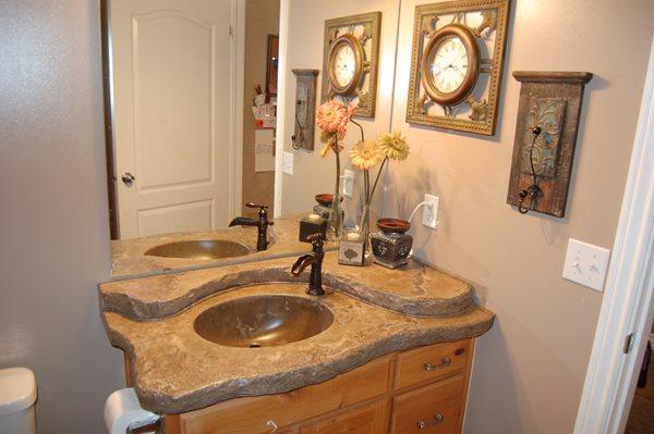 Vanity, Bathroom Concrete Sinks The Ashby System Santee, CA