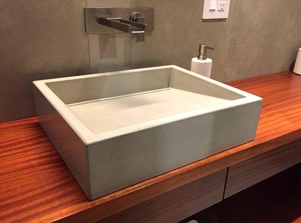 Vessel Sink, Ramp Sink, Slot Drain Concrete Sinks Opus Concrete Santa Ana, CA
