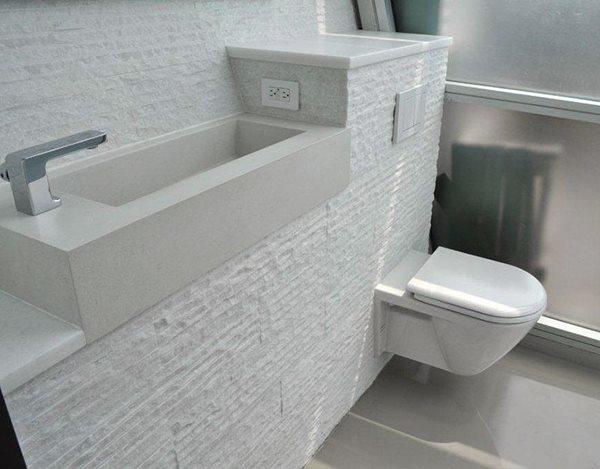 White, Bathroom Concrete Sinks Oso Industries Brooklyn, NY