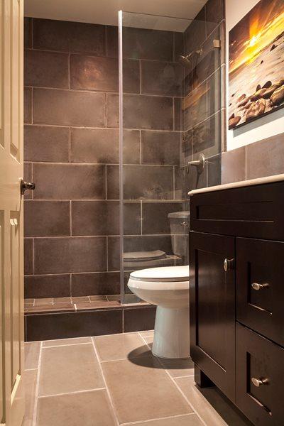 Dark Gray Concrete Bathroom Tile Concrete Tiles Opus Concrete Santa Ana, CA